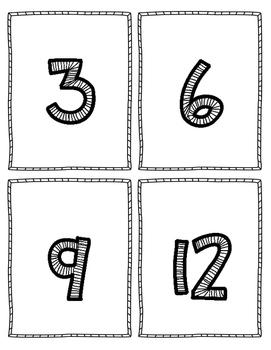 Multiplication Flash Cards - 3