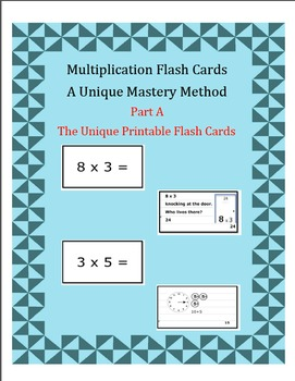 Multiplication Flash Cards-A Unique Mastery Method-Part A