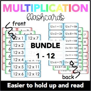 Multiplication Flash Cards (BUNDLE)