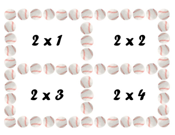 Multiplication Flash Cards: Baseball Flash Cards: Multiplication 0x1 to 12x12