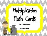 Multiplication Flash Cards Detective Theme