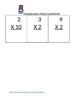 Multiplication Flash Cards/Drill