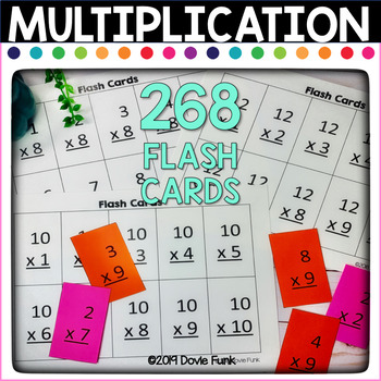 Multiplication Flash Cards Fact Practice