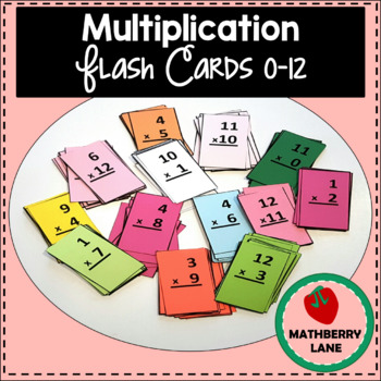 Multiplication Flash Cards Fluency 0 12 With Progress Tracker By