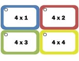 Multiplication Flash Cards: Fours, Multiplication Facts of 4