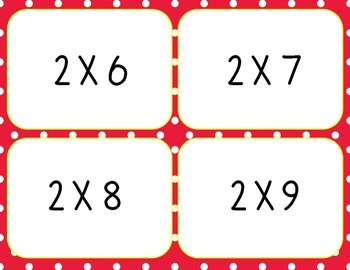Multiplication Flash Cards Freebie, 0-5