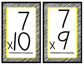Multiplication Flash Cards *Freebie*