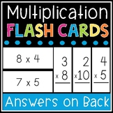 Multiplication Flash Cards - Math Facts 0-12 Flashcards -
