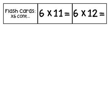 Multiplication Flash Cards - Math Flash Cards