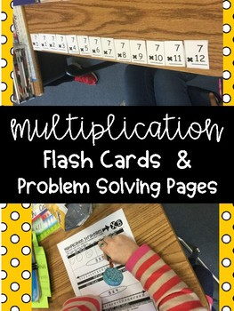 Multiplication Flash Cards, Model Making and Problem Solving Pages