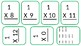 Multiplication Flash Cards- Multiples of 1 and 2