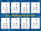Multiplication Flash Cards Numbers 2-10, Multiplication Ta