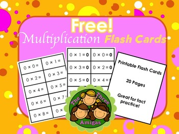 Multiplication Flash Cards Printable