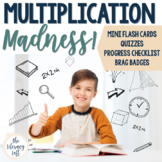 Multiplication Flash Cards, Quizzes, Brag Badges