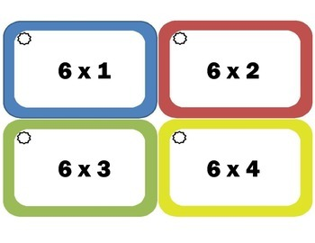 Multiplication Flash Cards: Sixes, Multiplication Facts of 6