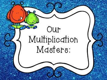 Multiplication Flash Cards (Small) Glitter and Monster Theme