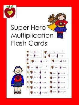 Multiplication Flash Cards (Super Hero)