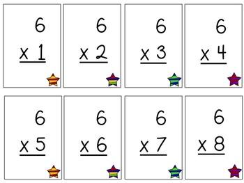 Multiplication Flash Cards - Superhero Set