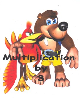 Multiplication Flash Cards With Banjo and Kazooie