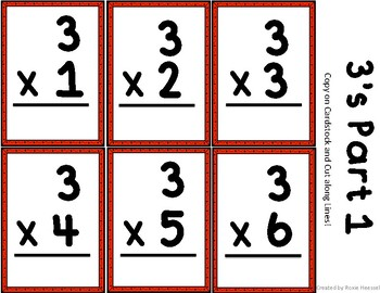 Multiplication Flash Cards and 2 Minute Timed Tests