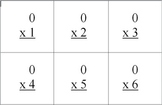 Multiplication Flash Cards from 0 to 12