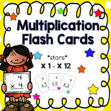 Multiplication Flash Cards - stars