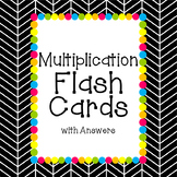Multiplication Flash Cards with Answers