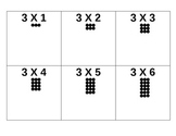 Multiplication Flash Cards with Arrays