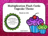 Multiplication Flash Cards with Award Certificates - Cupcake Theme - Large