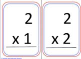 Multiplication Flash Cards x1 & x2