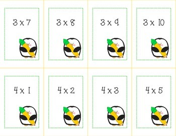 Multiplication Flash Cards/War