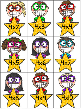 Multiplication Flash Cards and Quizzes - Factors 1-10