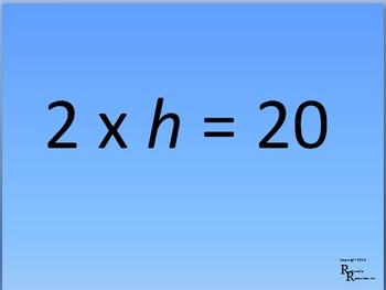 Multiplication FlashCard Presentations (Multiple Presentations) 2's Tables