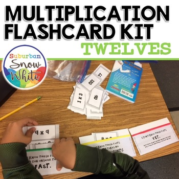 Multiplication Facts Flashcards for Growth Mindset: 0 - 12