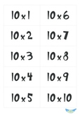 Multiplication Flashcards (0 to 10)