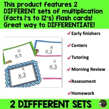 Multiplication Flash cards! Color Coded for easy use! 144 Cards!