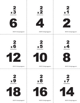Multiplication Flashcards #1-10