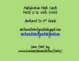 Multiplication Flashcards 2-12 with tips and songs! *ADDED