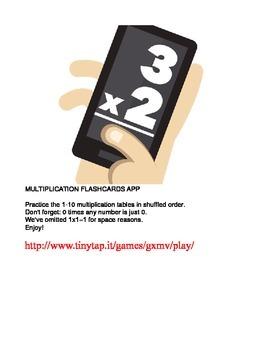 Multiplication Flashcards APP