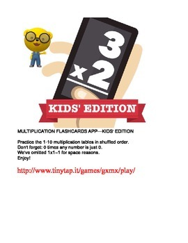 Multiplication Flashcards APP