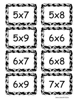 Multiplication Flashcards FREEBIE