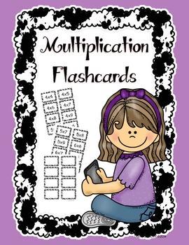 Multiplication Flashcards Editable FREEBIE
