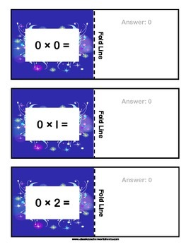 Multiplication Flashcards - Cut & Fold - Facts to 10 -Grades 2-3 (2nd-3rd Grade)