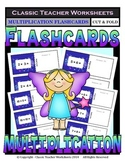 Multiplication Flashcards - Cut & Fold - Facts to 10 -Grades 3-4 (3rd-4th Grade)