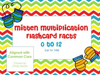 Multiplication Flashcards- Mittens