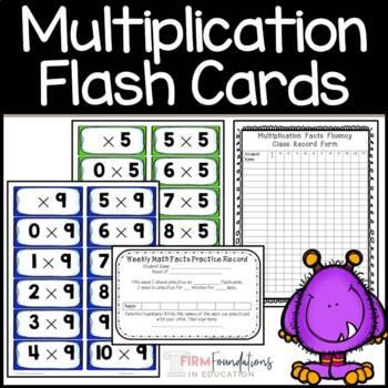 Multiplication Flashcards Pack
