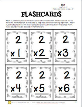 multiplication flashcards and charts 0 12 with printable answers on backs