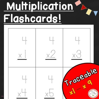 Multiplication Flashcards and Charts (Traceable!)