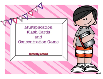 Multiplication Flashcards and Concentration Game