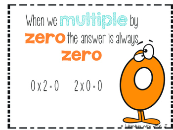 Multiplication Flashcards and Activities x 0, x 1-Fact Fluency FREEBIE